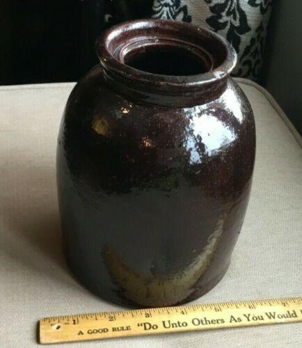 Painted Stoneware Crock / Canning Jar