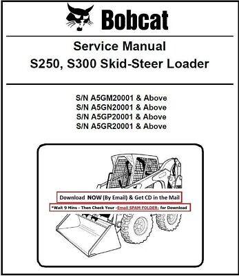 Bobcat S250 S300 Workshop Service Repair Manual Skid Steer Loader Cd