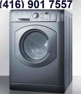 Ariston ARWDF129SNA 24in Built-In All-In-One Vent-less Washer Dryer Combo  for Apartments, RVS 110V, no venting Required
