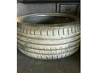Accelera tyres x2 245 35 19 loads of tred left
