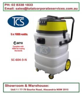 90Lt 3000W Ametek Motors Commercial Wet and Dry Vacuum Cleaner