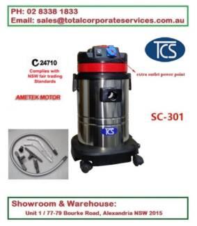 SC-301 Commercial 30L Wet & Dry vac cleaner with ametek motor