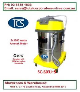 60L Wet & Dry Vacuum Cleaner with 2x1000W Ametek Motors Alexandria Inner Sydney Preview