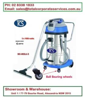 Commercial 80L Wet and Dry vacuum cleaner with 3x1000W Ametek Mot