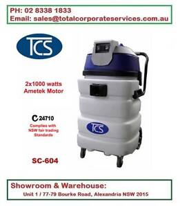90L Commercial wet & dry vacuum cleaner with 2x1000W Ametek Motor Alexandria Inner Sydney Preview