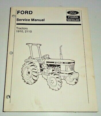 Ford 1910 2110 Tractor Service Shop Repair Workshop Troubleshooting Manual Oem