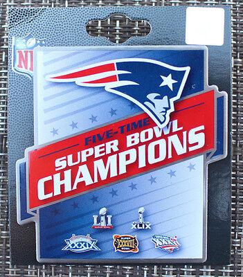 Nfl Lapel Pin 5 Time Super Bowl Champions New England Patriots 2017 Sb Li 51