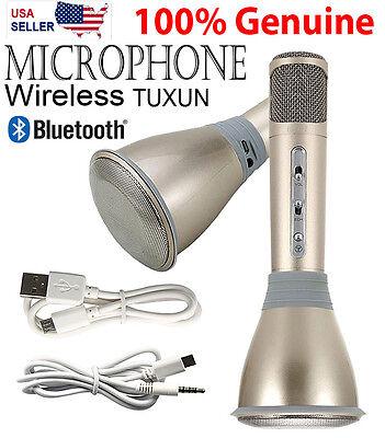 K068 Wireless Bluetooth Mini In Out door KTV Karaoke Microphone + Speaker -Gold
