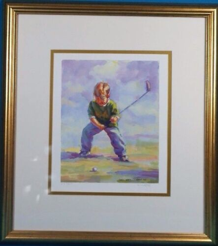 """Lucelle Raad Signed """"teed Off"""" Limited Edition Lithograph Well Framed. Features"""
