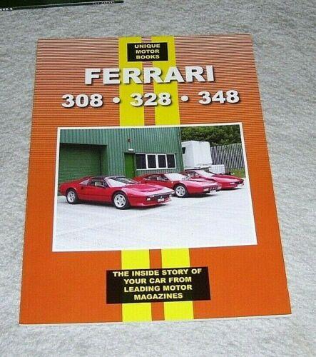 FERRARI+308+328+348+ROAD+TEST+REPRINT+BOOK+Unique+Motor+Books+