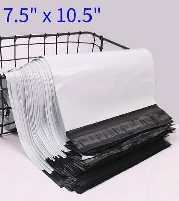 7.5x10.5 White Poly Mailers Packing Shipping Envelopes Self Sealing Bags 2.5mil