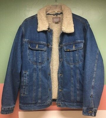 LEE JEAN JACKET MEN  RIDER BLUE SIZE XL for sale  Shipping to India