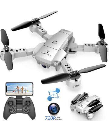 SNAPTAIN A10 Mini Foldable Drone with 720P HD Camera FPV WiFi RC Quadcopter w/Vo