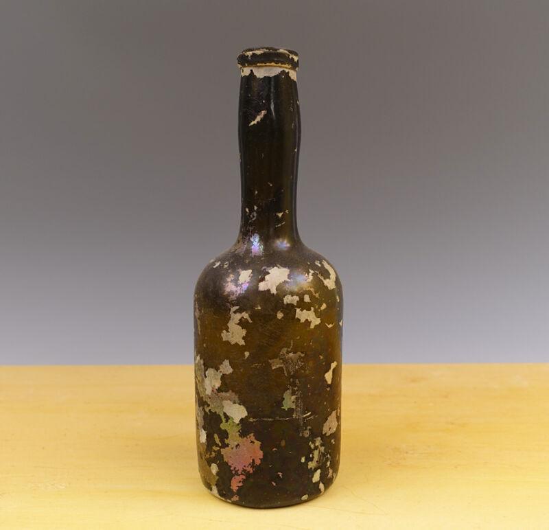 Antique Dutch/English Wine-Bottle 18th C Excavated Onion