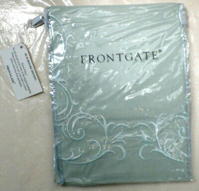 RESORT BOUDOIR Embroidered 600TC Sham in SEAFOAM by Frontgate (Retired Design)