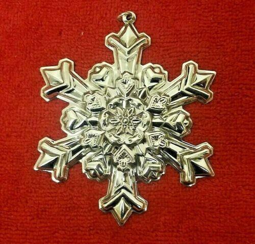 Vintage Sterling Silver 1995 Gorham Snowflake Ornament #8052