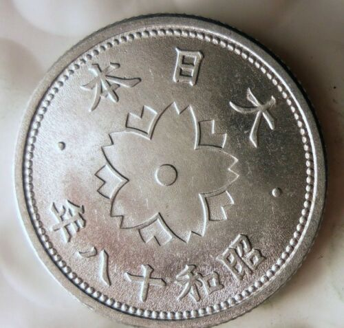 1943 JAPAN 10 SEN - AU/UNC - World War II Historic Coin - Free Ship - BIN #FFF