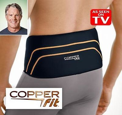Copper Fit Back Pro Back Brace Compression Lower Lumbar Support Belt Copperfit