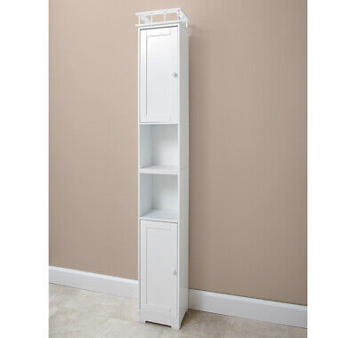 Slim Storage Bathroom Cabinets - [White] - New