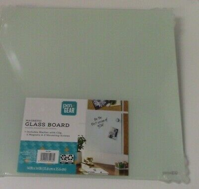 Magnetic Wall-mount Glass Board Dry Erase Board 14x14 - Brand New
