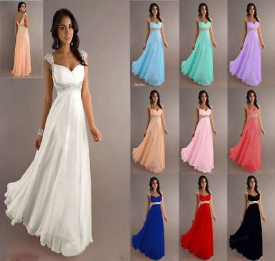 Abendkleid Ballkleid Brautkleid Brautjungfernkleid Chiffon Kleid S-4XL A1223 Braut Kleid Kleid