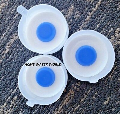 3 or 5 Gallon Water Bottle Snap On Cap Anti Splash 55mm Peel Off Top - Wholesale Bottled Water