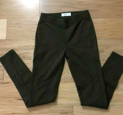 Abercrombie & Fitch Skinny Pants Leggings Green Ankle Zip Size Extra Small XS
