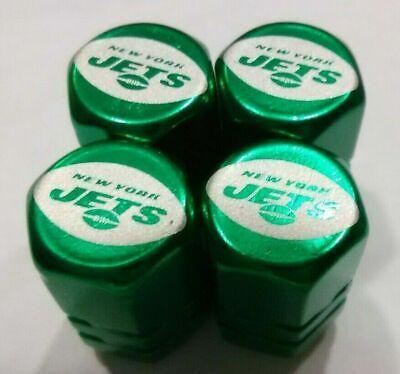 Chrome Engraved New York Jets Tire Valve Stem cap Covers 4 Pc set   New York Jets Tire Cover