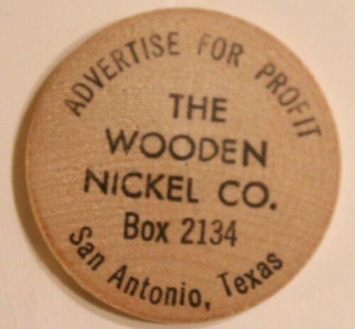 Vintage San Antonio Texas Wooden Nickel