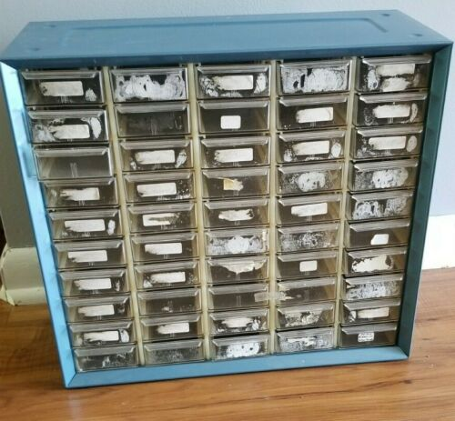 Vintage Akro-Mils 50 Drawer Metal Parts cabinet 2/4