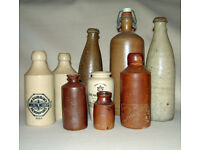 ANTIQUE EARTHENWARE BOTTLE COLLECTION - Collected from Diving Expeditions