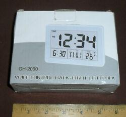 Digital Alarm Clock Multi-function Voice Control White