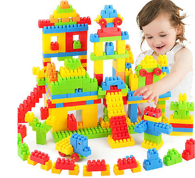 144pcs Colorful Plastic Building Blocks Children Puzzle Educational Toy Gift CT