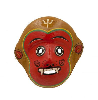 Mask and Mitten Set Monkey Hanuman Indra Jatra Festival Nepal Paper Mache Mask