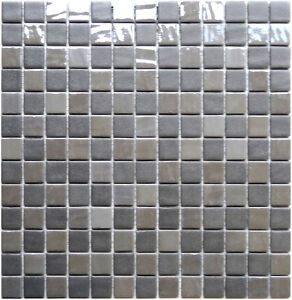 glasmosaik 4mm gc florenz grey glas mosaik bad sanit r fliesen renovieren ebay. Black Bedroom Furniture Sets. Home Design Ideas