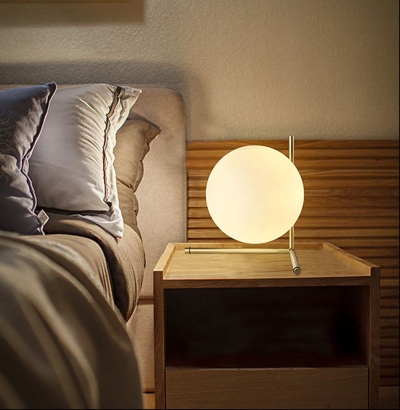 Nordic glass ball led table lamp gold desk light reading lamp nordic glass ball led table lamp gold desk light reading lamp bedroom lighting aloadofball Image collections