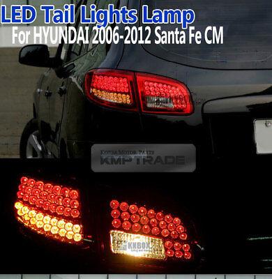 LED DOT Trunk Rear Tail light Lamps Pair RED for Hyundai 2006-2012 Santa Fe CM