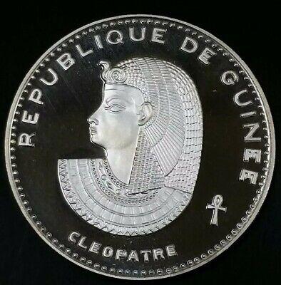 1970 500 Francs Cleopatra Guinea Republic Cleopatra .999 Proof Silver 29.08 Gram