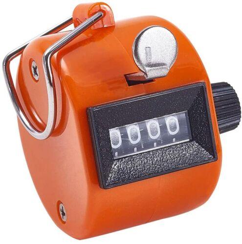 4 Digit Number Dual Clicker Golf Hand Tally Counter orangeHandy Convenient