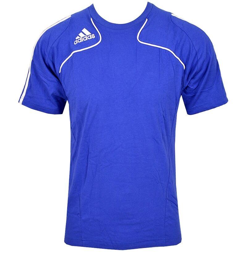 Adidas Trofeo T-Shirt Kinder Fussball Sport Freizeit Laufshirt Jungen blau/weiß