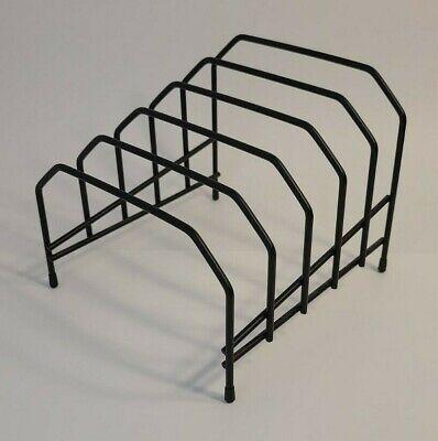 Black File Organizerfolder Divider Wire Paper Rack - 5 Slots - Quantity 1
