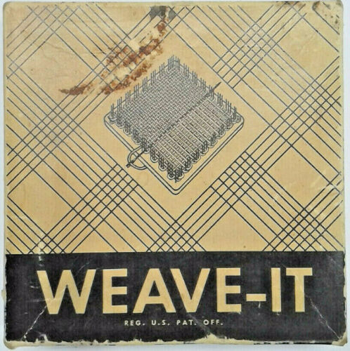 Vintage - Weave-It - Donar - Loom w/ Instructions, Hook, and 2 Needles