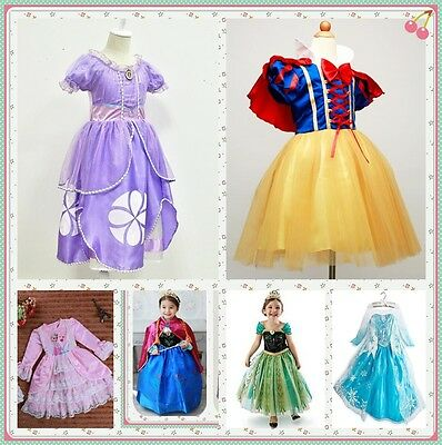 Christmas Princess Sofia The First Childs Dresses Kids Party Costume (Sofia The First Toddler Dress)