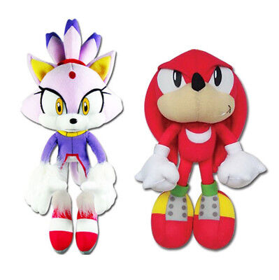 1x Great Eastern (Set of 2) Sonic the Hedgehog Plush - Blaze the Cat & Knuckles