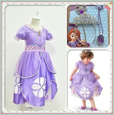 Kid Girl Princess Sofia Dress The First Childs Fancy Dresses Costume Party Dress (Princess Sofia Costumes)