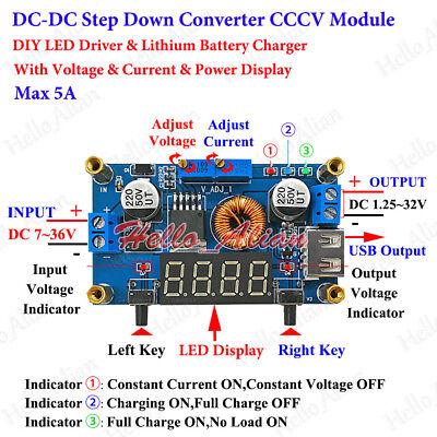 Dc-dc Cccv Adjustable Converter Step Down Buck Module Led Driver Battery Charger