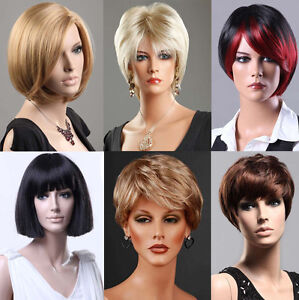 Ladies-Short-Wig-Blonde-Black-Brown-Wig-Bob-Curly-Wedge-Fashion-Wigs-UK