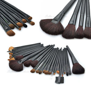 32-Pcs-Goat-Hair-Makeup-Make-up-Cosmetic-Brush-Set-Kit-leather-Case-Pouch