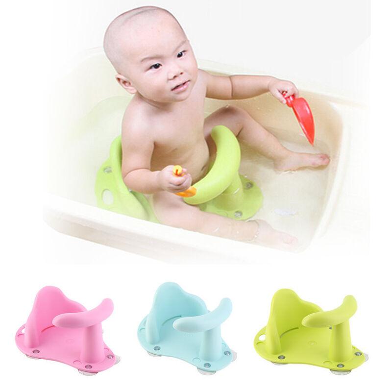 Baby Bath Tub Ring Seat Infant Child Toddler Kids Anti Slip Safety Chair KL