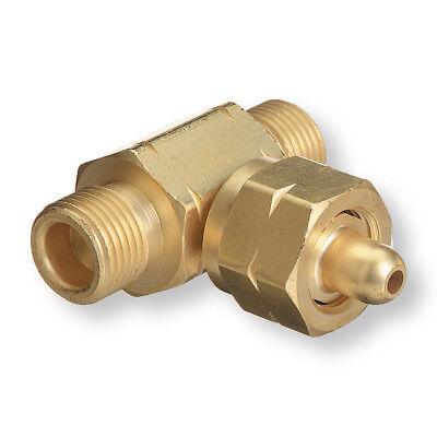 T-62 Oxygen Cga-540 Tee Adaptor - Connect 2 Regulators To 1 Bottle